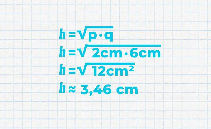 Berechnung Rechenbeispiel – Höhensatz des Euklid