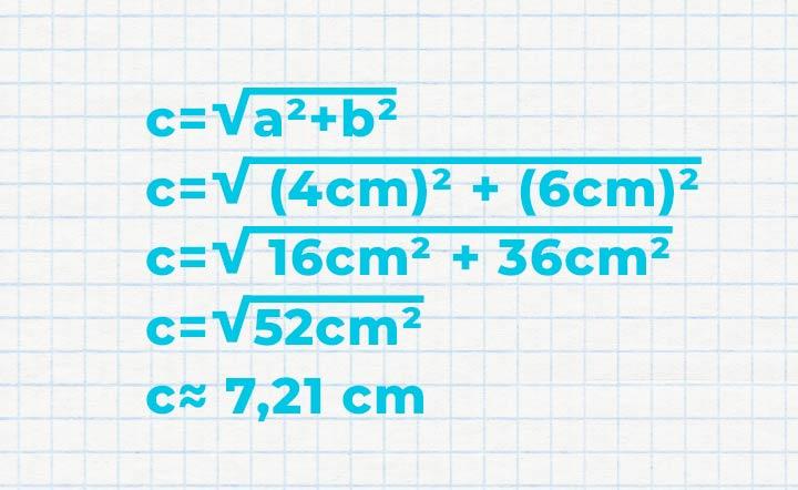 Berechnung Rechenbeispiel Satz des Pythagoras