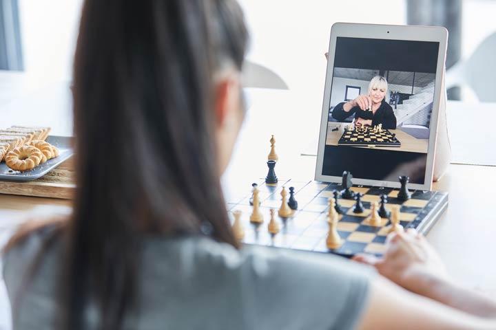 Klassische Brettspiele wie Schach per Videochat