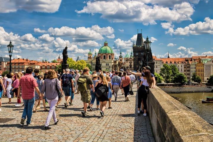 Touristen in Prag